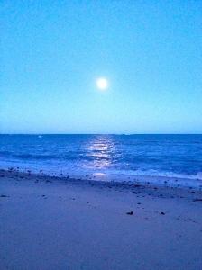 Praia do Espelho, BA. Lua Cheia. 18h30